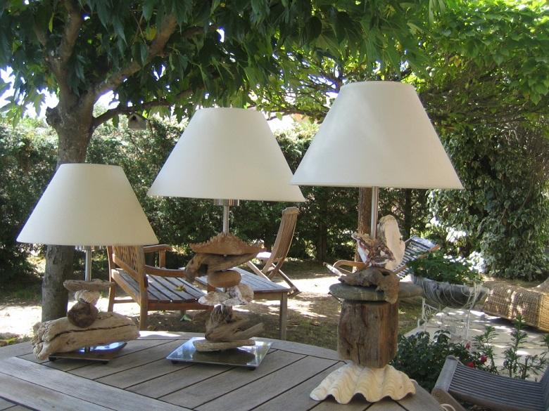 J'opte pour le recyclage créatif avec la lampe en bois flotté1