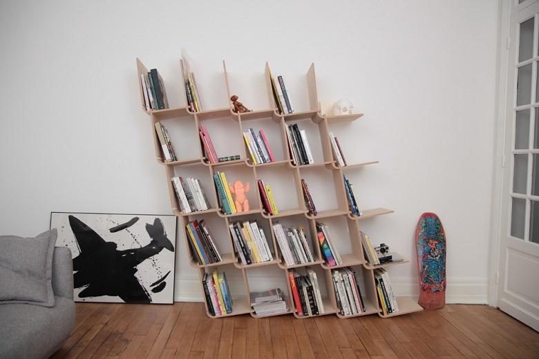 fabriquer une biblioth que soi m me la fois pratique et originale. Black Bedroom Furniture Sets. Home Design Ideas